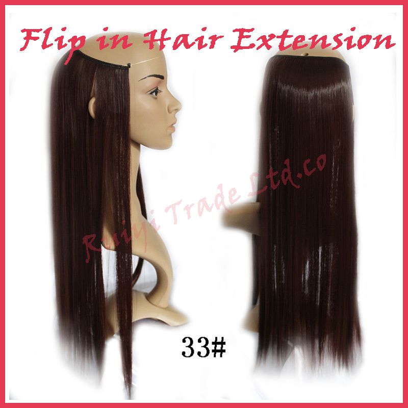 """Free shipping Flip In Extension Secret Miracle Hair Wire 22""""/55cm No clips and Glue European Extension(China (Mainland))"""
