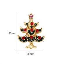 Weimanjingdian Merek Berbagai Macam Hijau dan Merah Kristal Berlian Imitasi Pohon Natal Bros Pin(China)