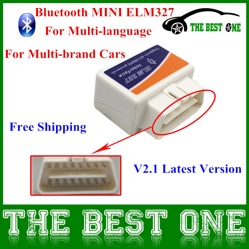3 Years Warranty Super MINI ELM327 V2.1 Bluetooth OBD/OBD2 Scanner Wireless ELM 327 Multi-Language Works ON Android Torque/PC(China (Mainland))