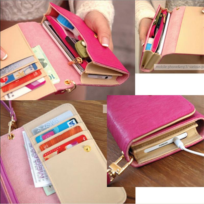 2015 Hot Women Wallets Elegant Mix Color Multifunctional PU Leather Clutch Lady Purse Phone bag Free Shipping carteira feminina(China (Mainland))