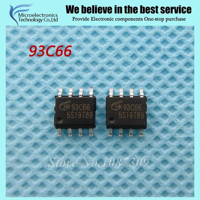 50PCS free shipping AT93C66A 93C66A 93C66 AT93C66 SOP-8 EEPROM 2.5 V to 5.5 V 4K new original(China (Mainland))