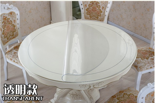Waterproof pvc soft glass round table cloth round tablecloth transparent dining table cloth table mats circle customize D110cm(China (Mainland))