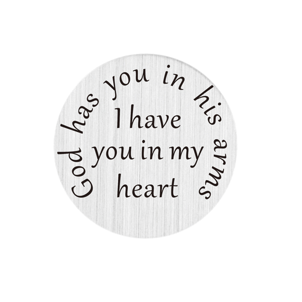 Laser print 22mm Stainless Steel i have you in my heart plates for floating lockets(China (Mainland))