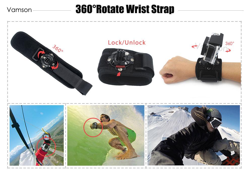 GoPro Accessories Set Gopro Kit Monopod Mount Strap for GoPro Hero 5 4 3+ Xiaomi yi SJ4000 SJ5000 SJ600 SJ700 Action Camera VS76