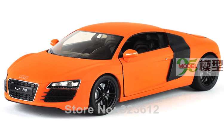 New 1:24 AUDI R8 Alloy Diecast Vehcile Car Model Toy Collection With Box Orange B1530(China (Mainland))