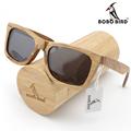 BOBO BIRD 2016 Fashion Men Sunglasses Custom wood Bamboo sunglasses Square Piltor oculos feminino de sol