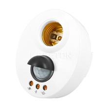 1pc hot PIR Motion Switch Detector 110V 220V E27 LED Bulb Base Infrared IR Sensor Light Automatic Wall Light Lamp Holder Socket(China (Mainland))