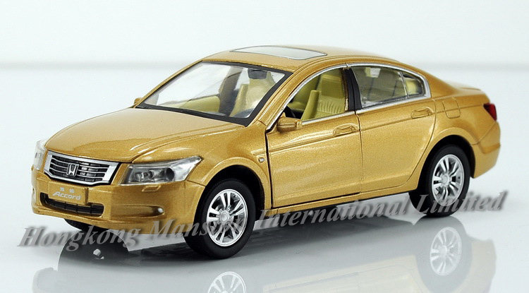 1:32 Scale Alloy Diecast Metal Car Model For HONDA Accord Collection Pull Back Toys Car With Sound&Light - Gold/White/Blue/Black(China (Mainland))