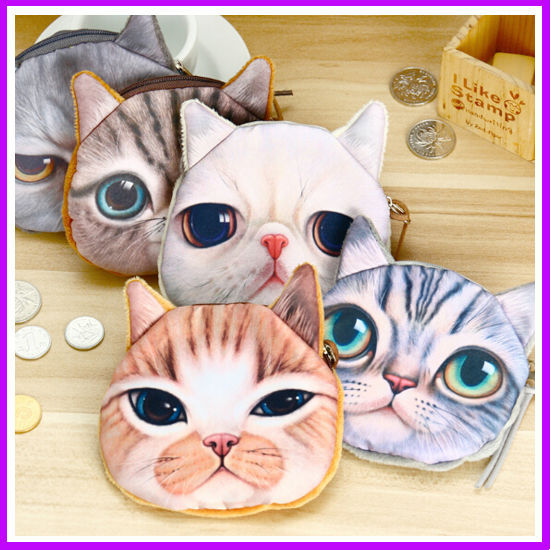 2016 новых малых 3D печать кошка портмоне милые дети мультфильм каваи сумка монет ...