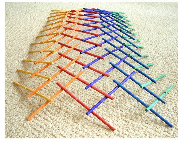 Sticks Leonardo wooden children logic game Da Vince building structure theory(China (Mainland))