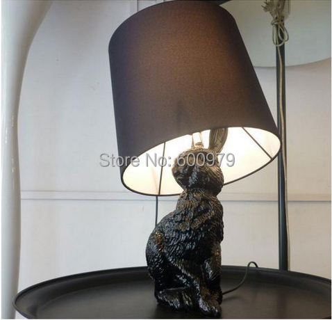 Free shipping Moooi Rabbit Lamp Europe style Front designed Black table lamp(China (Mainland))