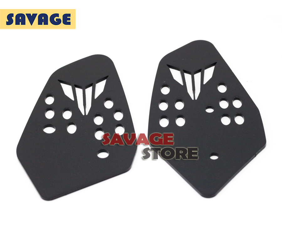 For YAMAHA MT07 MT-07 FZ-07 14-16 Black Motorcycle Accessories CNC Aluminum Foot Peg Heel Plates Guard Protector<br><br>Aliexpress