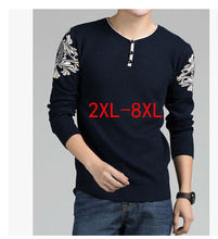 New arrival 2015 autumn winter men loose pullover sweater male fashion knitting V-Neck tops plus size xxl3xl 4xl 5xl 6xl 7xl 8xl(China (Mainland))