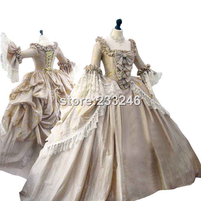Victorian Era Dress Gothic Period Gown Wedding Reenactment Theatre Clothing Renaissance Medieval Costume Custom-made(China (Mainland))