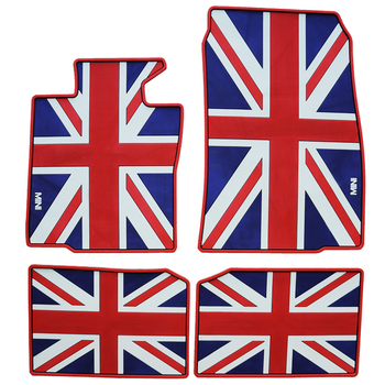 British flag dedicated wateroof car floor mats non slip latex rugs for mini cooper countryman rubber feet pads mini f56