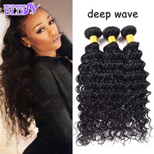 Big Discount Filipino Deep Wave Virgin Hair Natural Human Hair Extensions Top 7A Grade Deep Curly Remy Hair Bundles Weave Hair(China (Mainland))