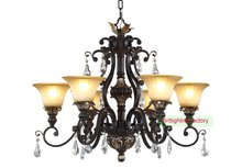 Rustic Burnished FinishAmerican European duchess chandelier black gold hotel lamps Oil Rubbed Bronze Deep Rust Finish chandelier(China (Mainland))