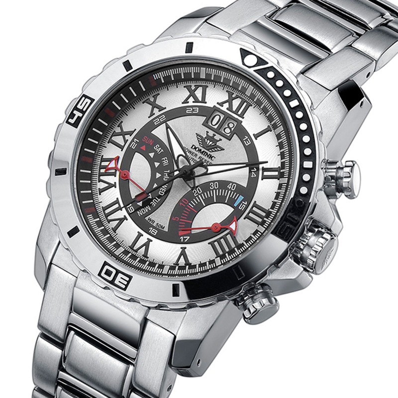 Automatic mechanical man watches kinetic energy storage waterproof trainspotter British fly back the watch