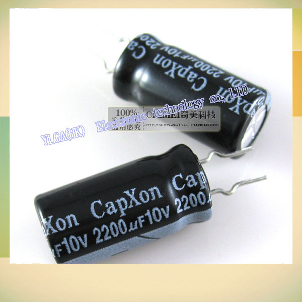 New Original Electrolytic capacitor 10V 2200UF capacitor electronic components 3C digital accessoriesFree shipping(China (Mainland))