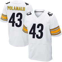 Men's #25 Artie Burns Adult #43 Troy Polamalu Jerseys Adult 7 Ben Roethlisberger #26 White Black Elite Jerseys Adu Free shipping(China (Mainland))