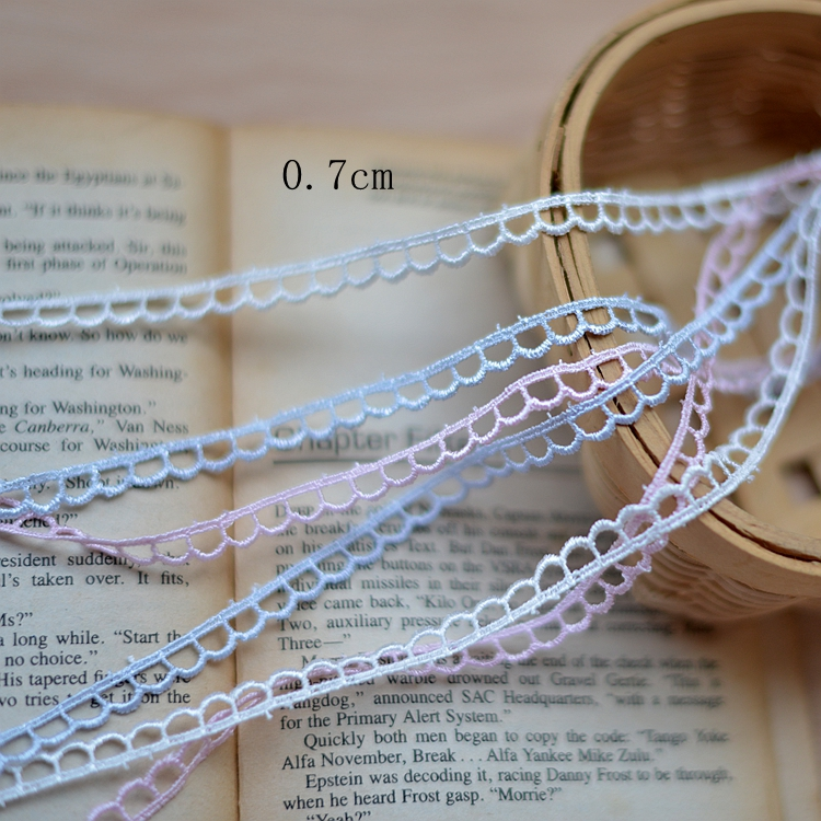 30meters/lot Beautiful Silver Gray/Pink/White Embroidery Venise Lace Trim Lace Sewing Free Shipping(China (Mainland))