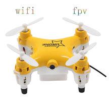 Spy Dron 2016 Mini Quadricopter With 0.3MP Camera Drone RC Quadcopter WIFI FPV GYRO RTF