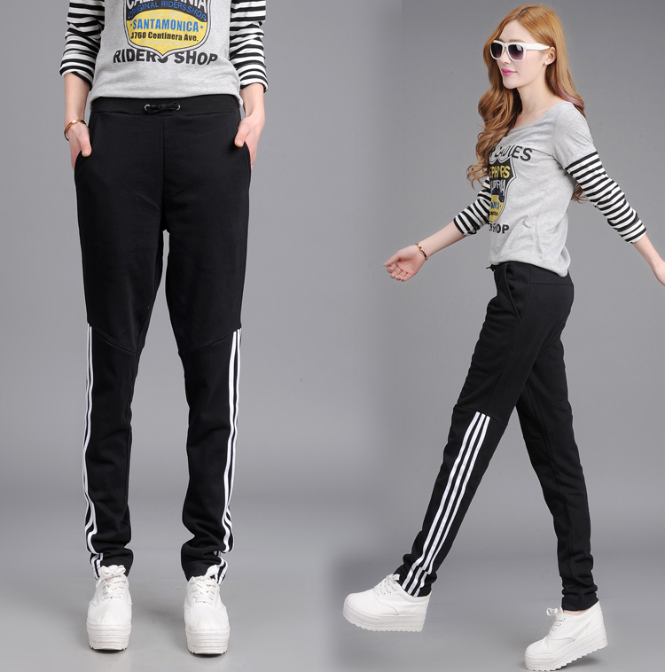2015 New Summer Style Sport Pants Women Thin Slim Casual Pants Cotton Pants Large Size Free Shipping(China (Mainland))