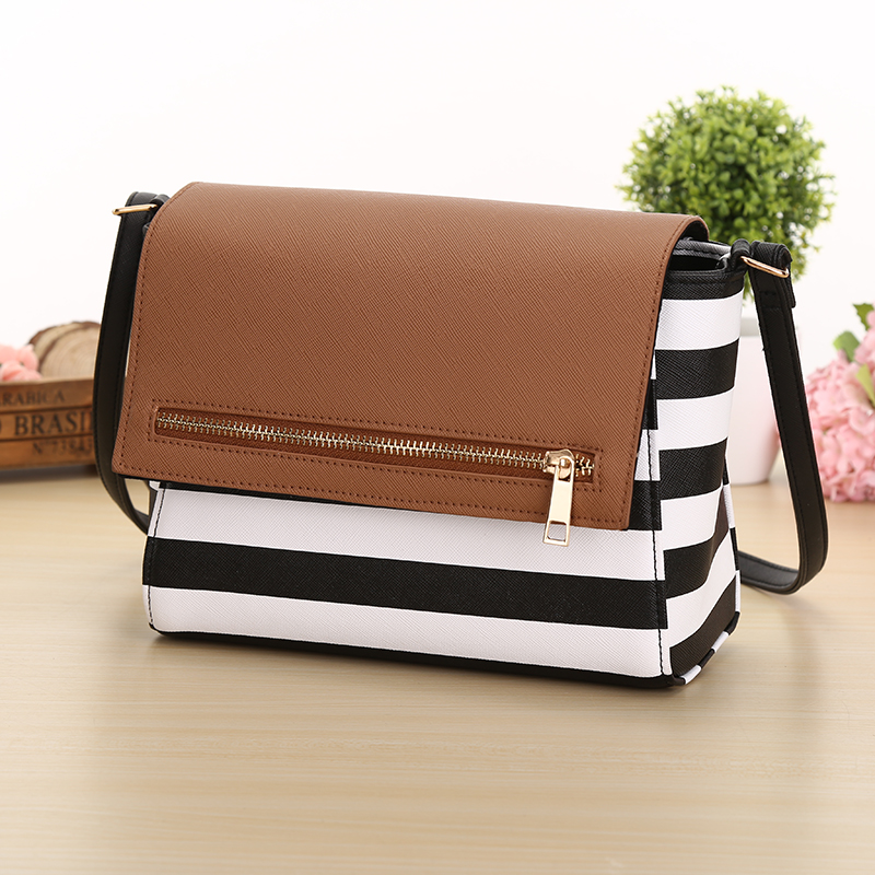 Hot selling Women s Fashion Small striped font b Plaid b font Handbag Women Messenger Crossbody