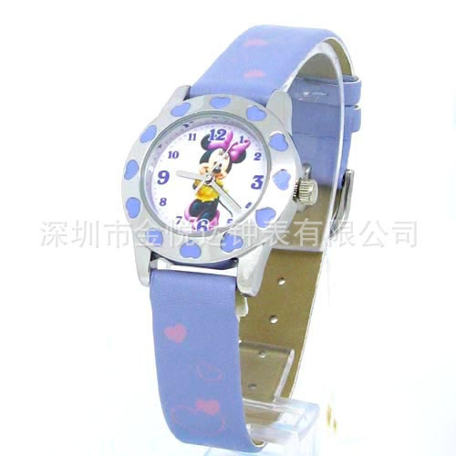 source of the purple heart pattern manufacturers super cute children watch cartoon girl latest promotional gift table(China (Mainland))