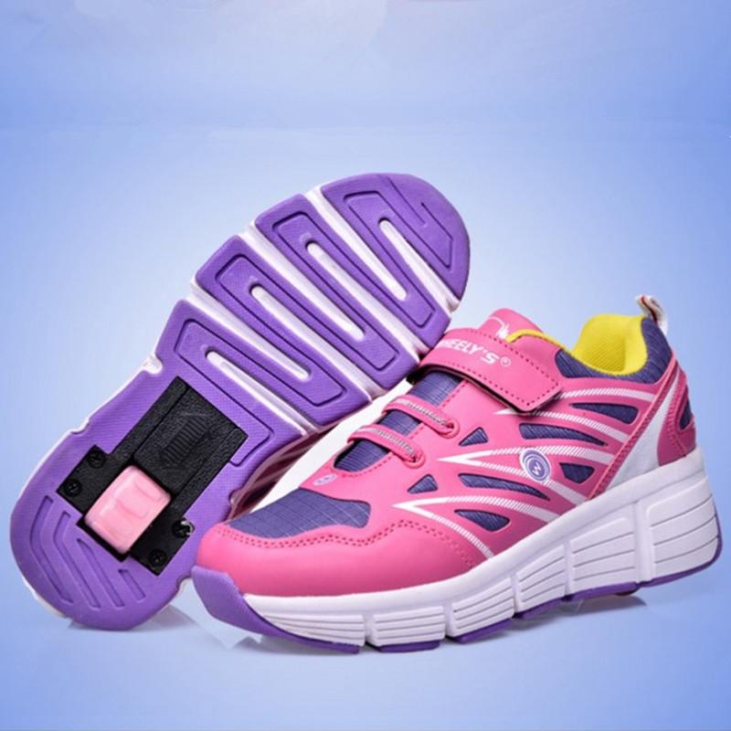 Size 29-44 Fashion Zapatillas Con Ruedas Heelys Girls Wheelie Shoes Skate Boys Sneakers Skating Sdult Roller