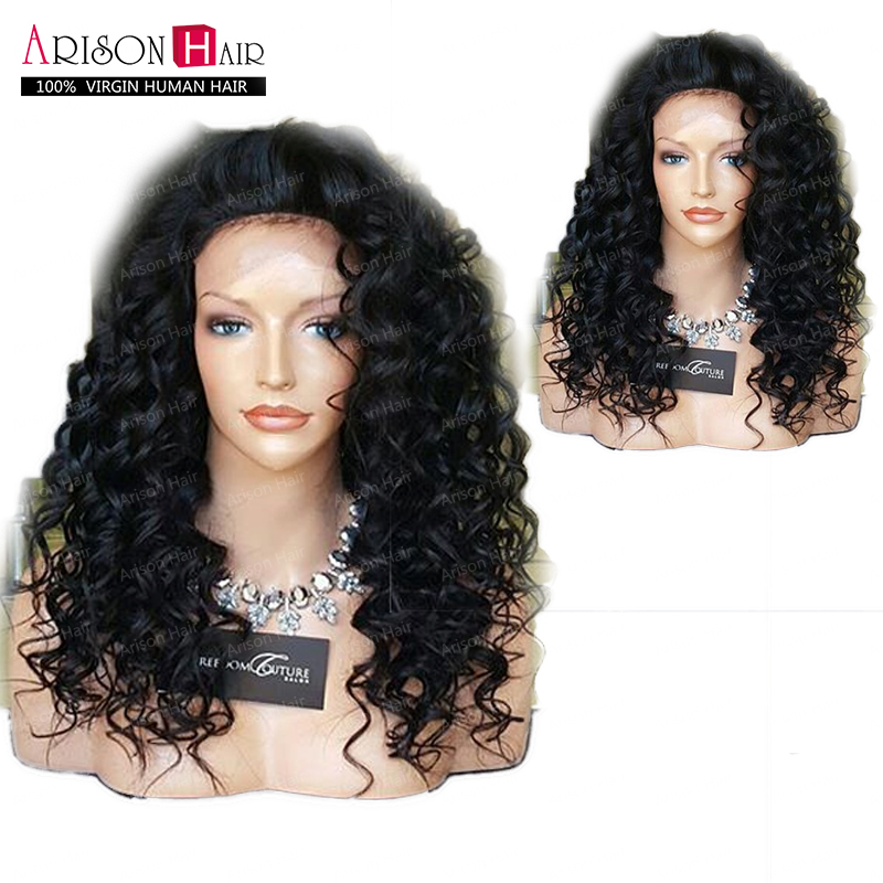 Cheap Brazilian Water Wave Full Lace Wig Virgin Hair wet Wavy Wigs Glueless Lace Front /Full Lace Human Hair Wig For Black Women(China (Mainland))