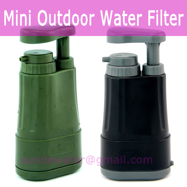 MINIWELL OUTDOOR WATER FILTER CAMPING & HIKING in Water