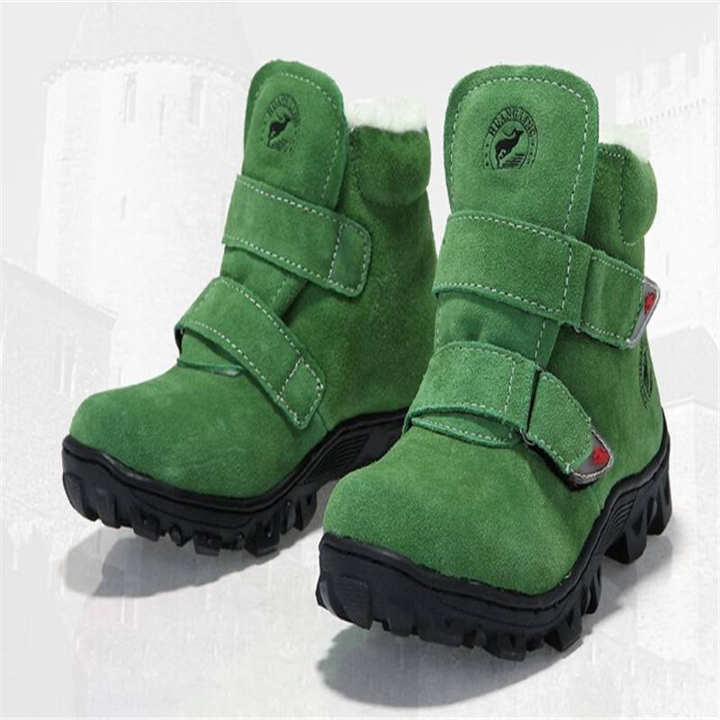 2014 NEW Q8 children winter Genuine Leather boots boys girls cotton-padded slip-resistant boots <br><br>Aliexpress