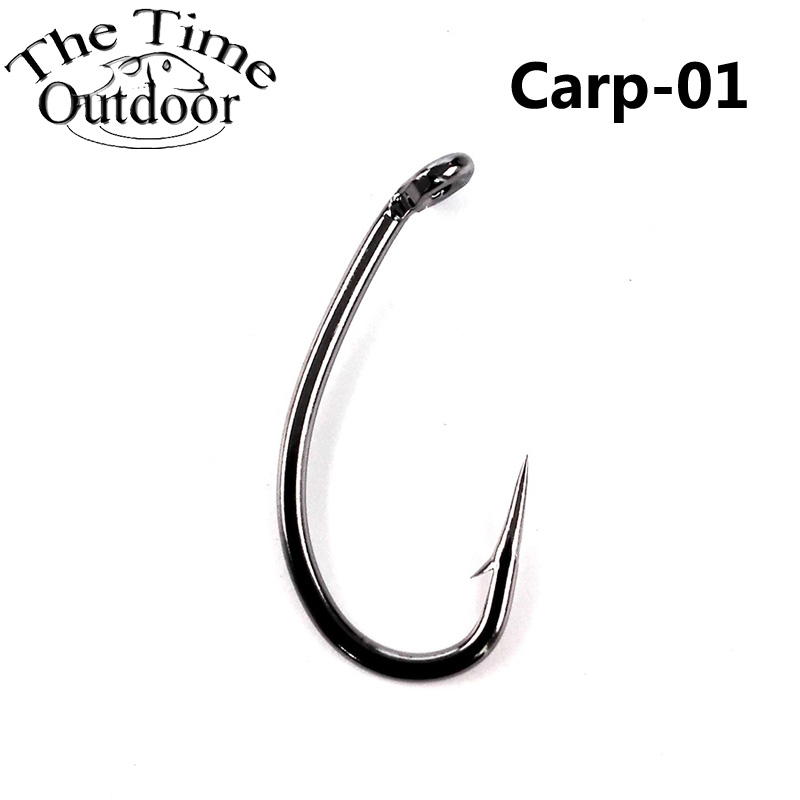 10High Carbon Steel Carp Fishing Hook Fishhooks Durable Pesca Jig Head Fly Hooks Hole Tackle - JuBao Trading Company store