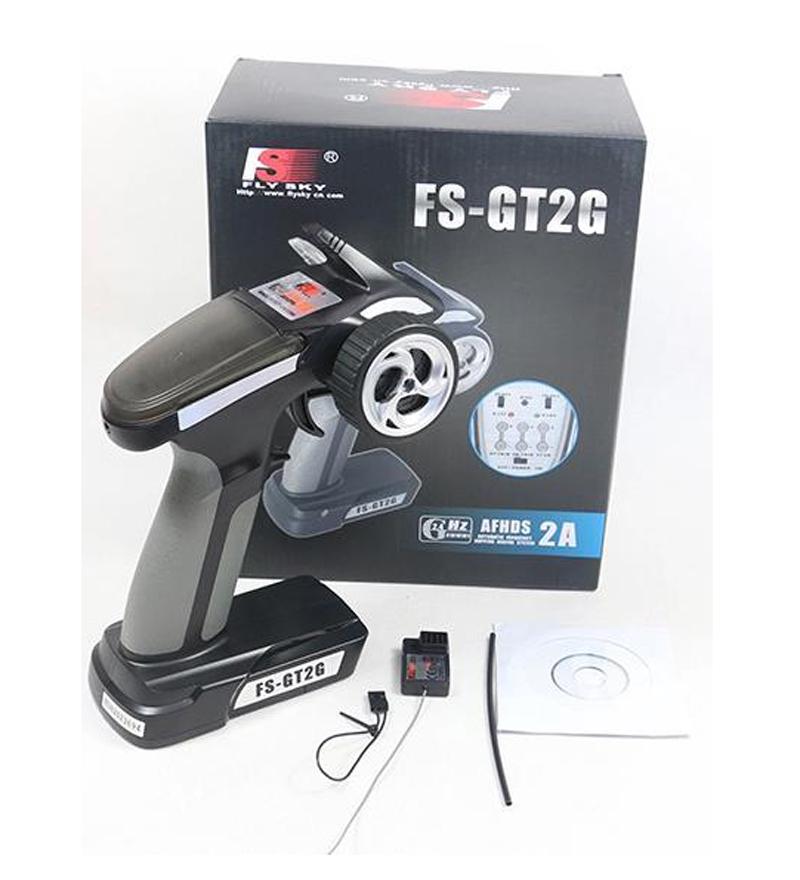 Flysky FS-GT2G FS GT2G 2.4G 2CH Gun RC System Transmitter Controller With Receiver For RC Car PK FLYSKY FS-GT2B Free Ship