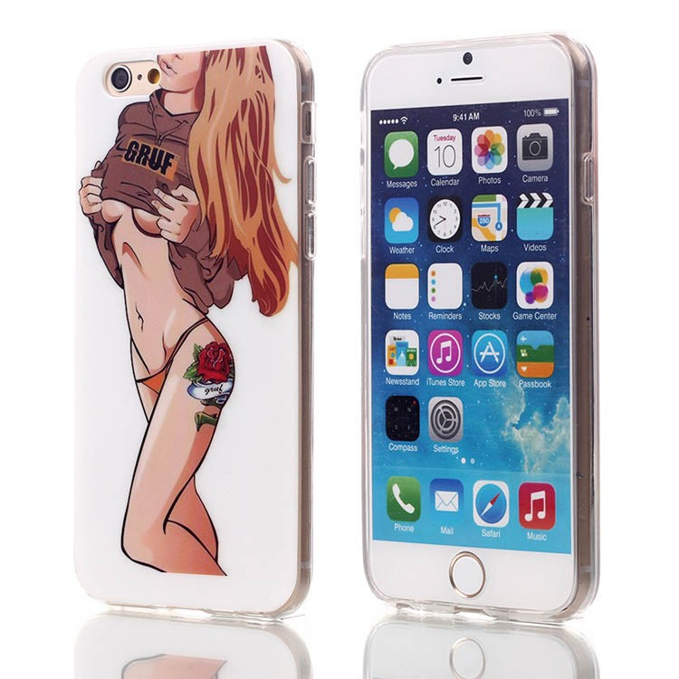 New Stlye Patterns Sex Pretty Girls Back Cover Phone Soft TPU+IMD Case For iPhone 6 6s 4.7″ Free Shipping