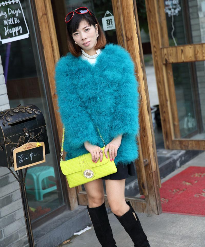 2014 female natural ostrich fur wool fur coat plus size women winter thicken warm genuine fur jacket outerwear women fur coatОдежда и ак�е��уары<br><br><br>Aliexpress