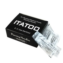 ITATOO 100pcs 16g 1.2mm Disposable Sterilized Tattoo Body Catheters for Piercing 16 Gauge Piercing Needles(China (Mainland))