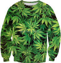 2014 Harajuku Sweatshirts for men/women 3D printed cannabis hemp weed leaf floral sweatshirt pullover hoodies autumn tops 039(China (Mainland))