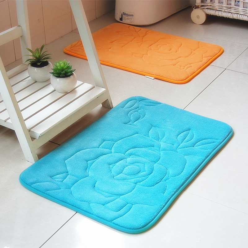 Rose doormat flower decorative kitchen floor mats Decorative kitchen floor mat
