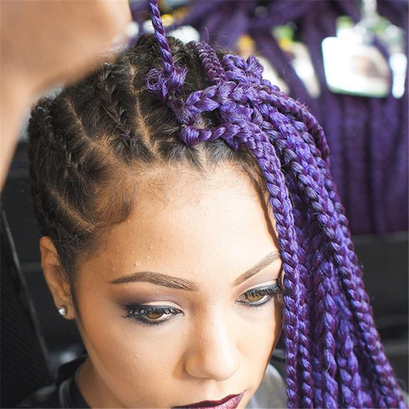 Crochet Braids Sale : Arrive Hot Sale Synthetic Twist Braids 20 Roots/Piece 3S box Braids ...
