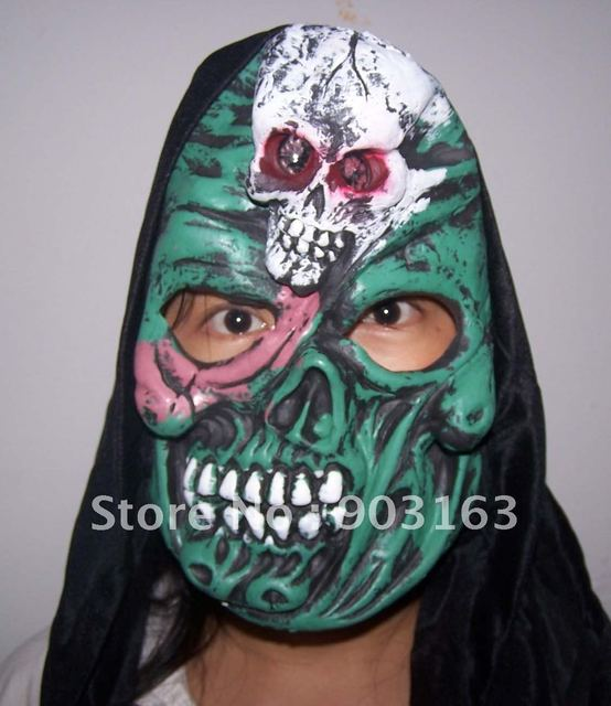 Wholesale 1Xpcs Halloween mask emulsion masks masquerade super mask - terror + free shipping