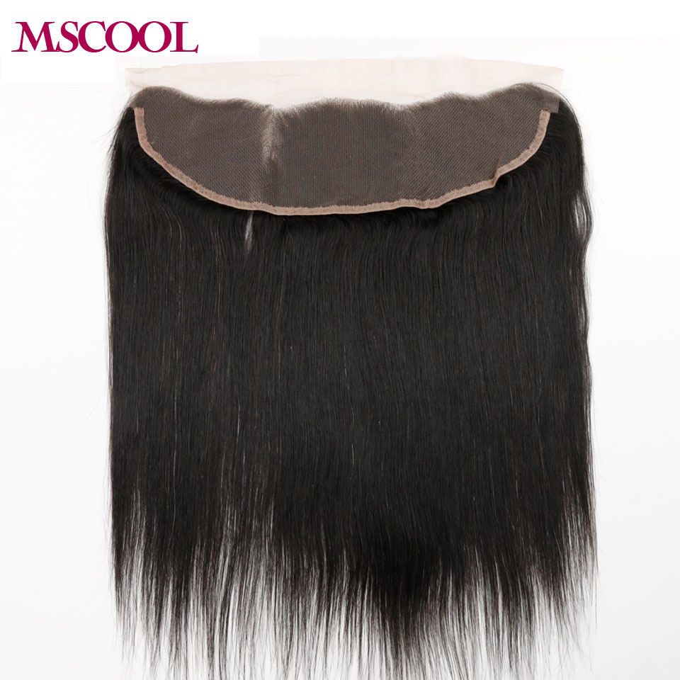 Mongolian Virgin Hair 1 Bundle 13*4 Lace Frontal Closure straight Virgin Hair 8A Straight Human Hair Closure Free Shipping<br><br>Aliexpress