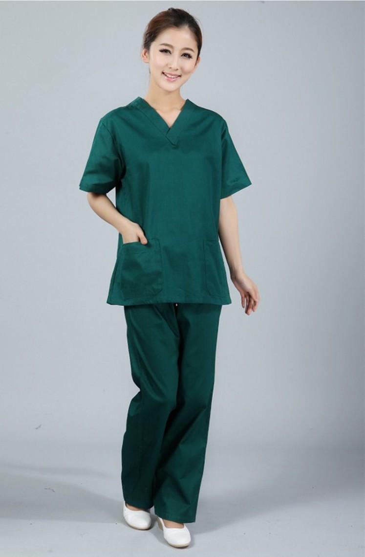 New plus size women 39 s women 39 s v neck summer nurse for Spa uniform europe