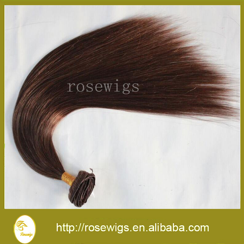 Brazilian Virgin Remy Hair Clip In Human Hair Extensions 10pieces Full Sead Set 4# Colors available<br><br>Aliexpress