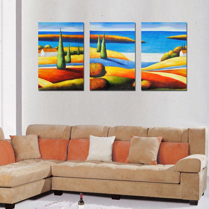 New arrival about 3 panel wall art craft abstract oil for 3 panel wall art