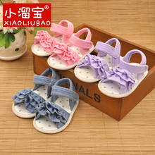 Princess Bebe Girl Footwear Baby Infant Summer Shoes Kids  Soft Sole Non-slip Crib Shoes For Baby Girls First Walkers Sandles(China (Mainland))