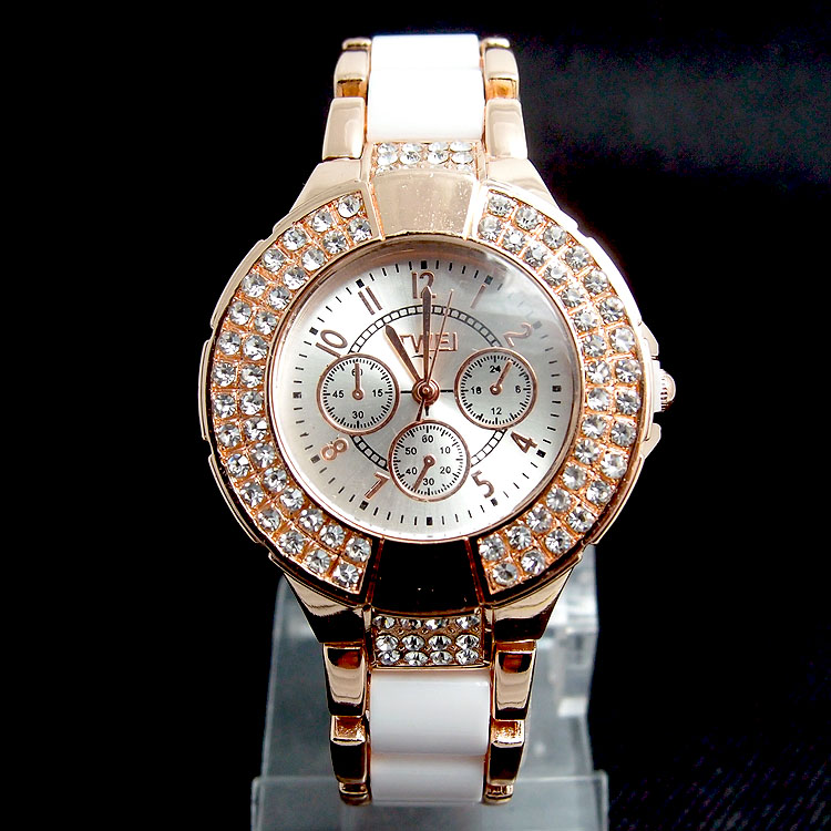 Wholesale Fashion Rose Gold Tone Crystal Watch Women Ladies Crystal Quartz Dress Watch Wristwatches TW036<br><br>Aliexpress