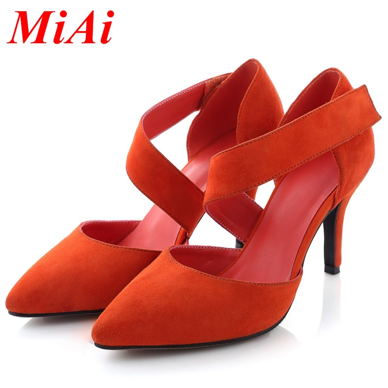 fashion womens pumps 2016 Simple spring summer ladies wedding shoes pumps high heels pointed toe size 34-39 new pumps platform<br><br>Aliexpress