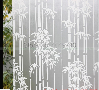 Thickening stickers printed bamboo window sticker kitchen door bathroom insulation explosion-proof membrane 45 cm free shipping(China (Mainland))